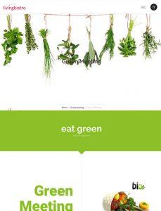 Website livingbistro green catering