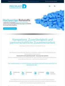 Website Preciplast Kunststofftechnik