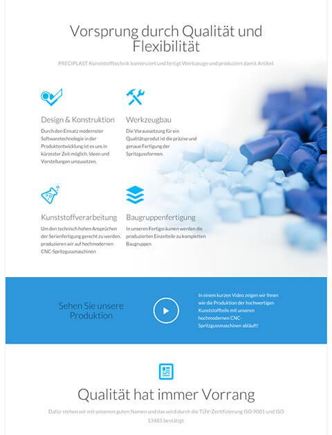 Responsive Website Preciplast Kunststofftechnik