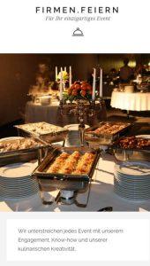 Mobile Webseite livingbistro catering