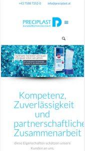 Mobile Website Preciplast Kunststofftechnik