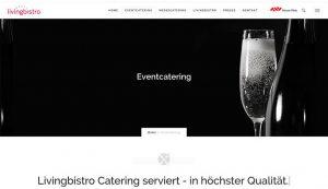 Webseite livingbistro Eventcatering