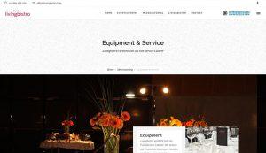 Responsive Webseite livingbistro catering