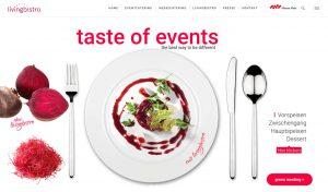 Website livingbistro - taste of events