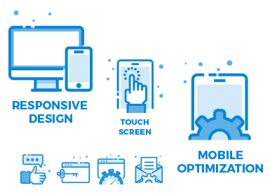 Responsive design - touch screen - mobile optimization