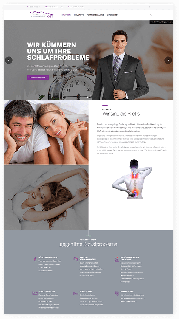 Webseite Schlafberatung Jost