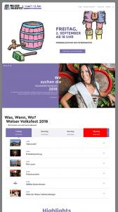 Programm Webseite Welser Volksfest