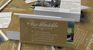 Visitenkarten Tischlmühle Gröbming