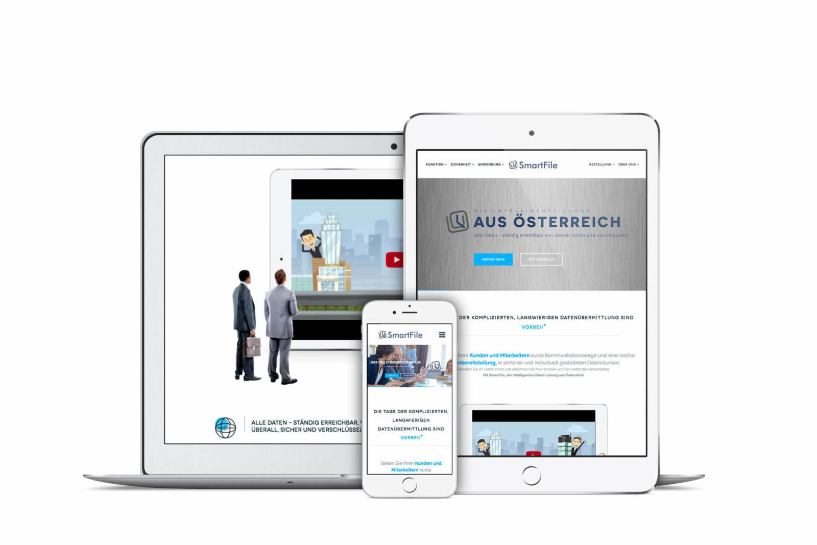 Responsive Webseite SmartFile GmbH