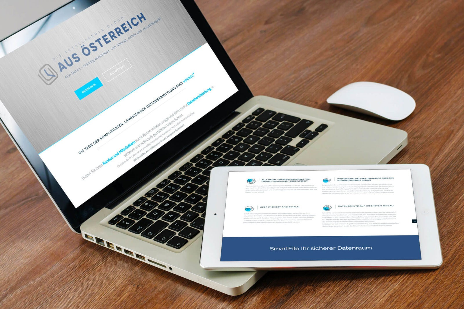 Responsive Webseite SmartFile.eu