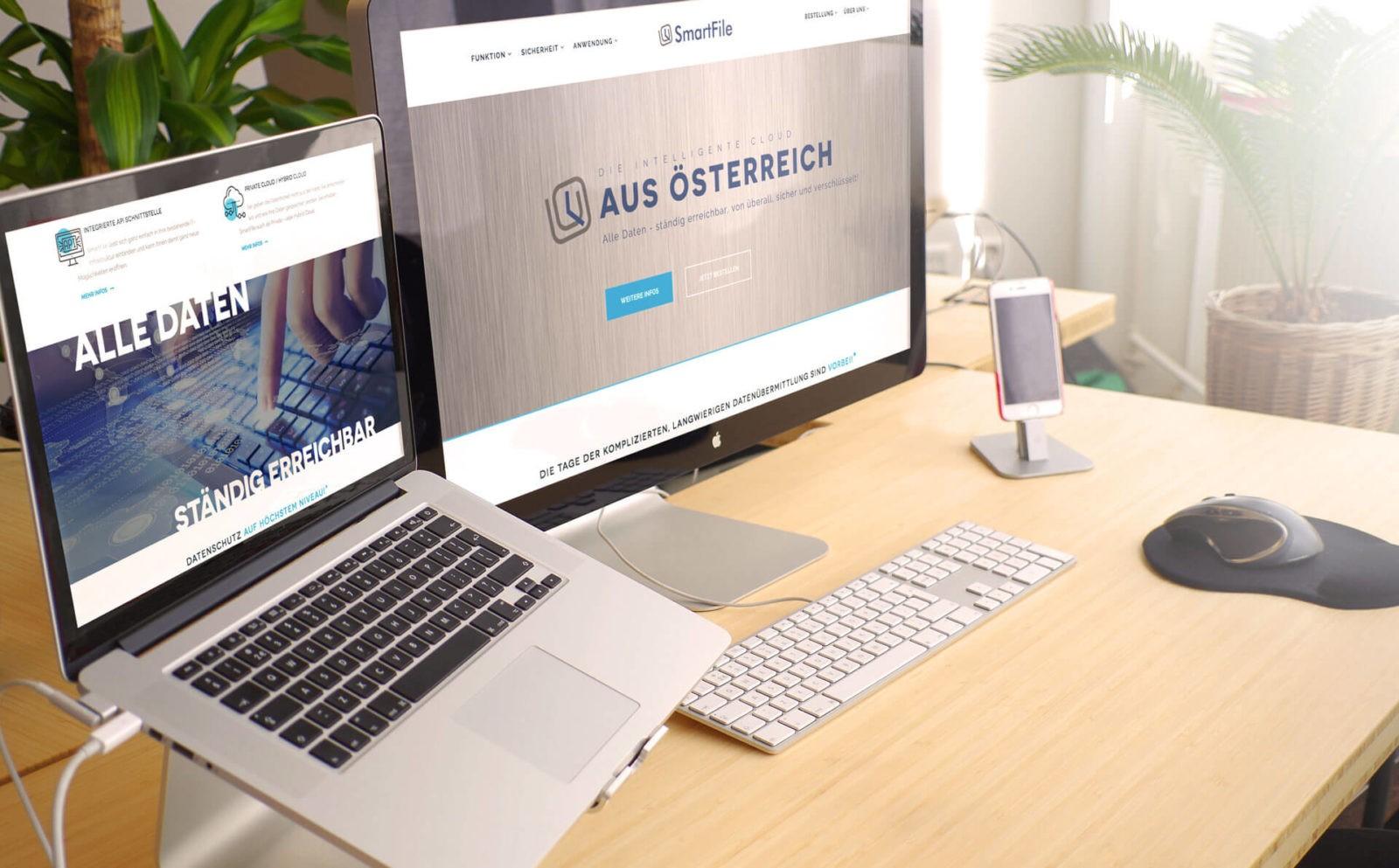 Webseite SmartFile.eu
