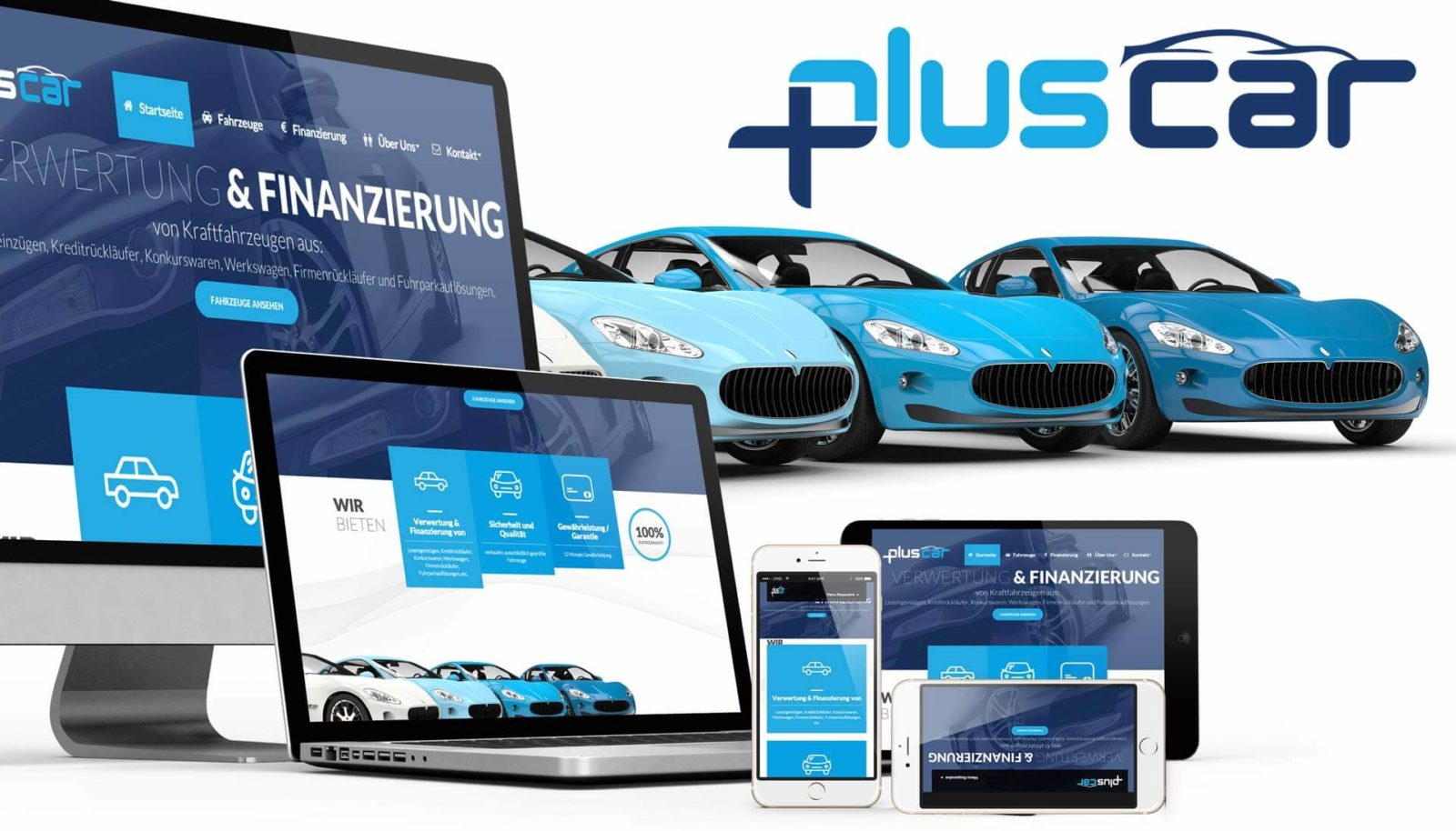 Responsive Webseite pluscar.at