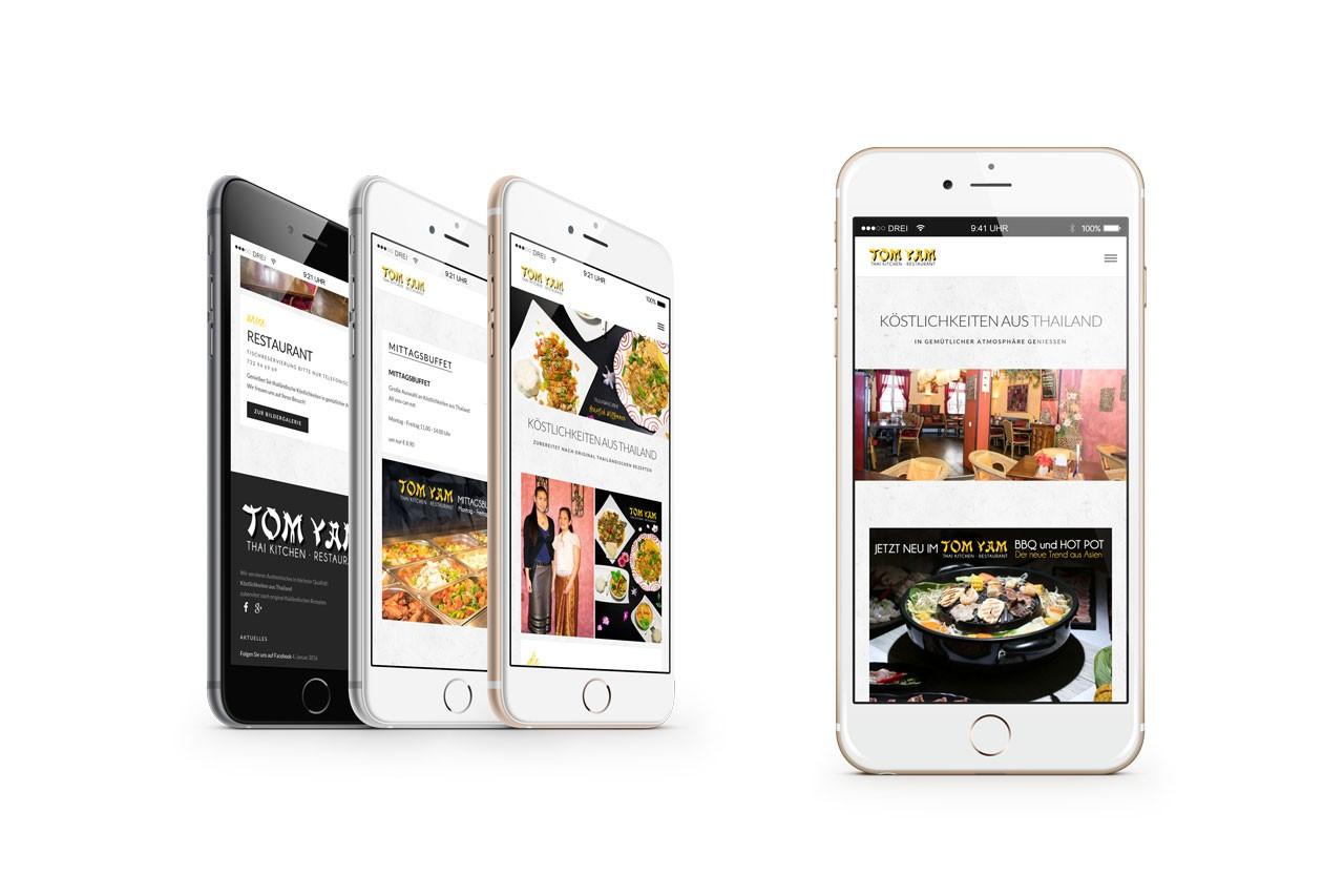 Mobile Webseite Tomyam