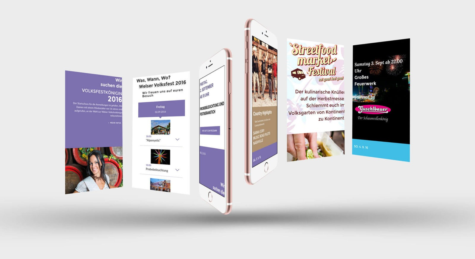 Mobile Website WelserVolksfest.at