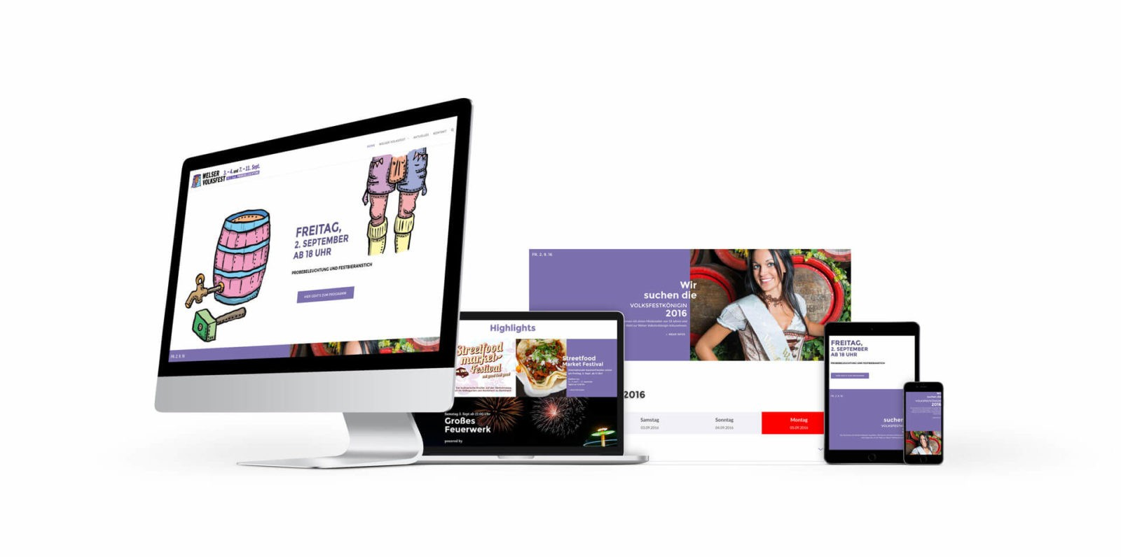 Responsive Website Welser Volksfest