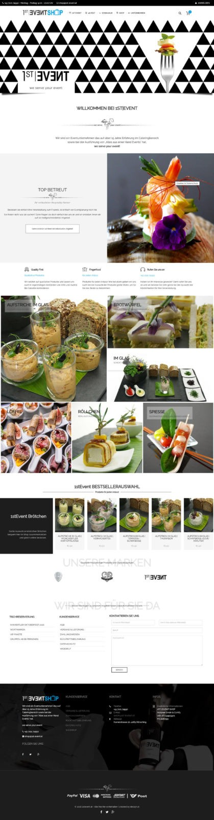 Webdesign 1stevent Catering