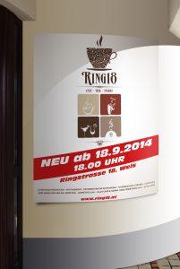 Kunde Cafe Ring18 Wels Plakat