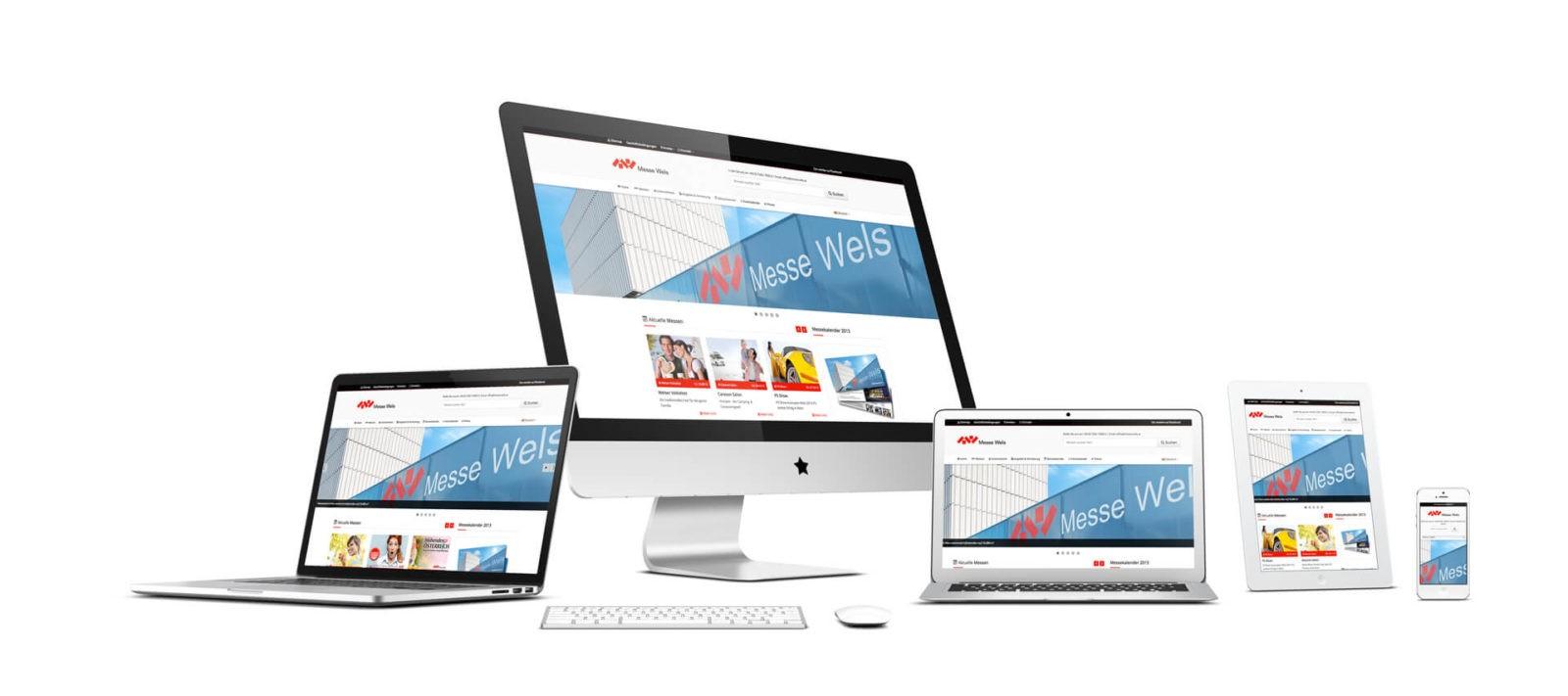 Responsive Webseiten der Messe Wels