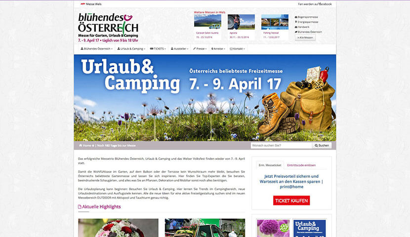 Kunde Messe Wels - Urlaub & Camping