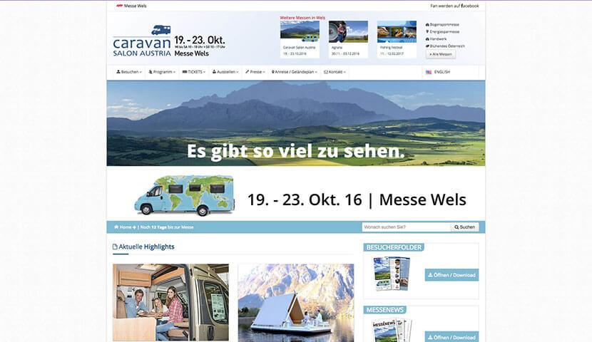 messe wels caravan - Webdesign Messe Wels GmbH