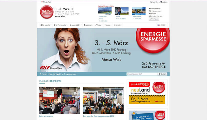 messe wels espa - Webdesign Messe Wels GmbH