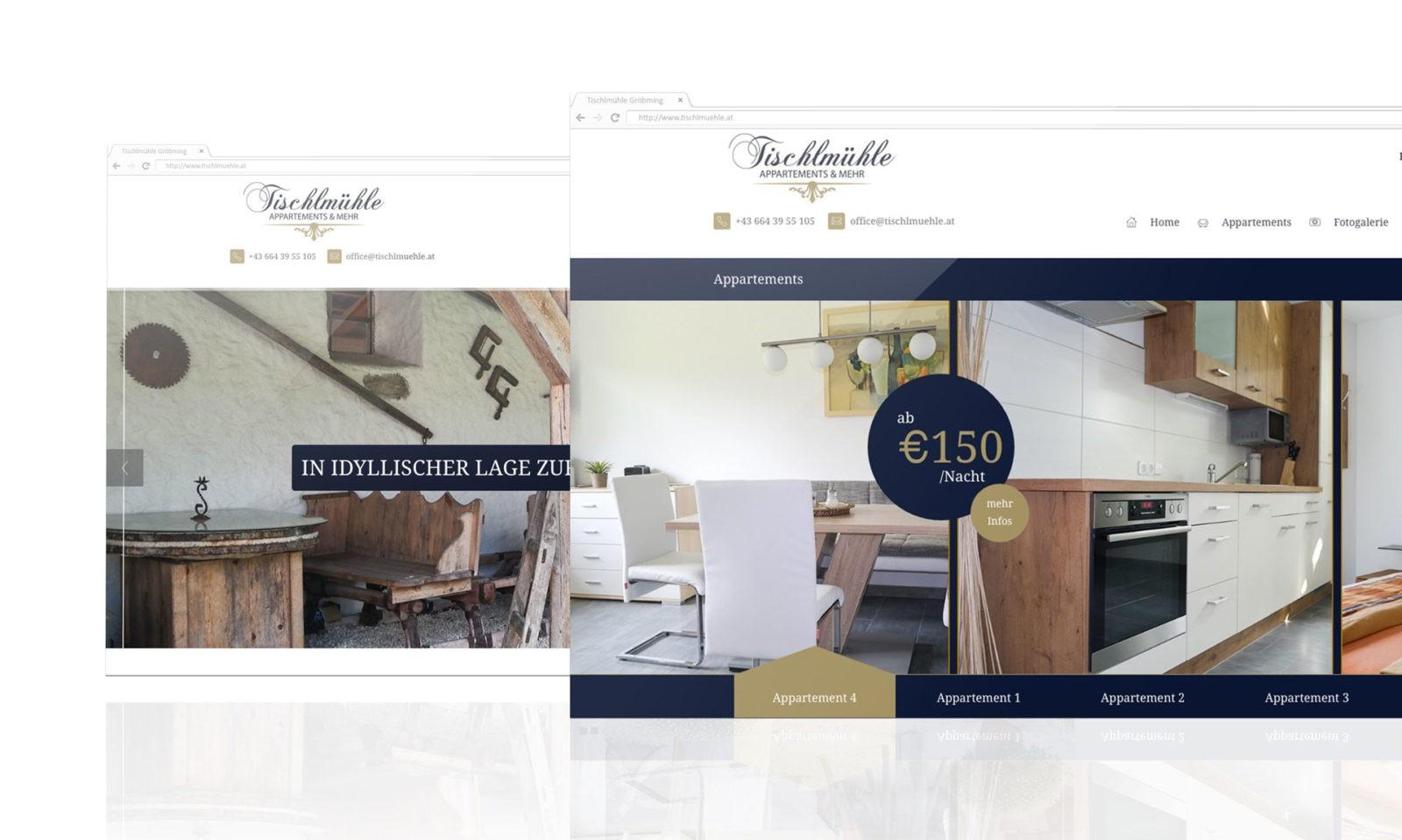 Responsive Webdesign Tischlmühle Gröbming