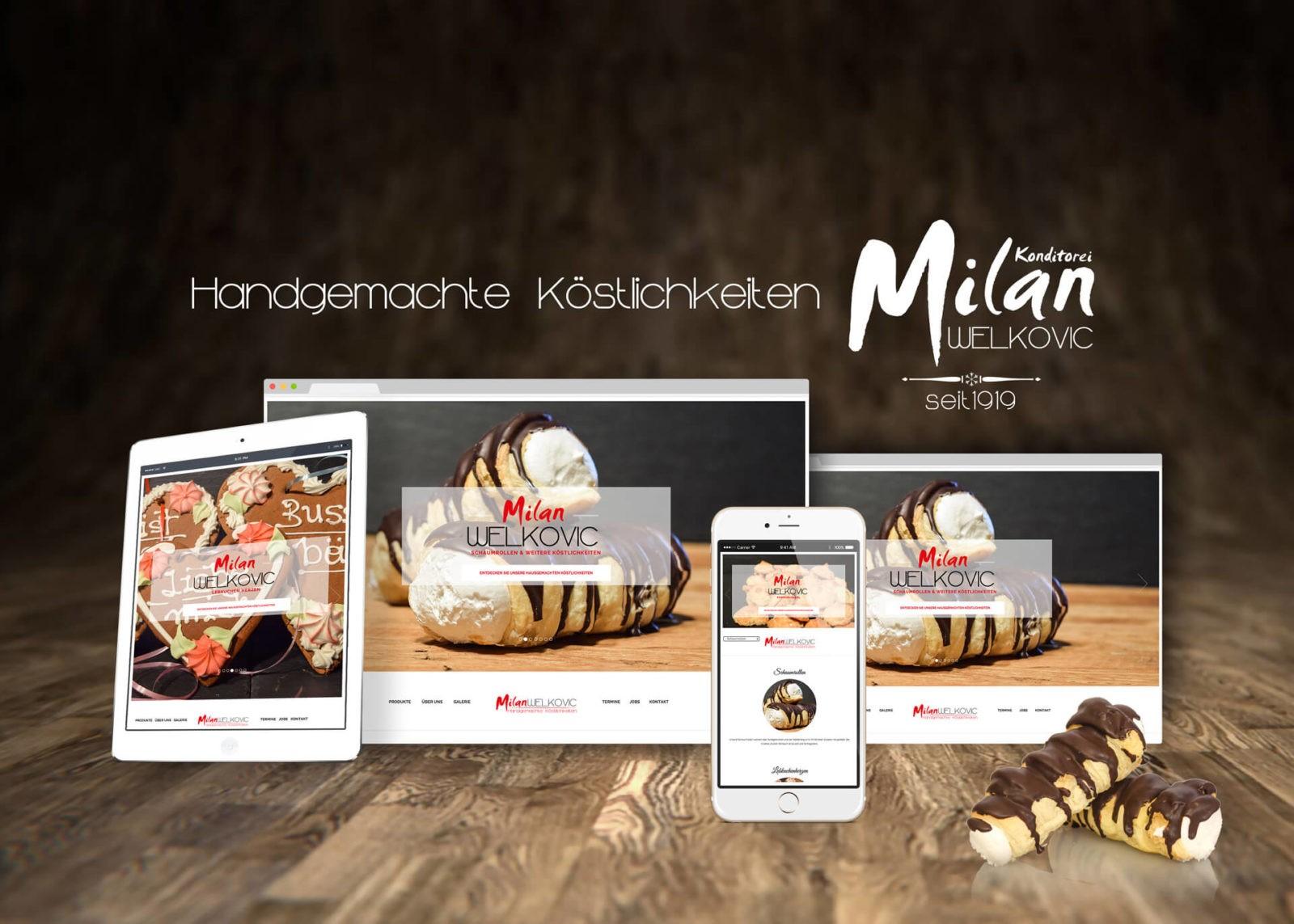 Responsive Website Konditorei Milan Welkovic