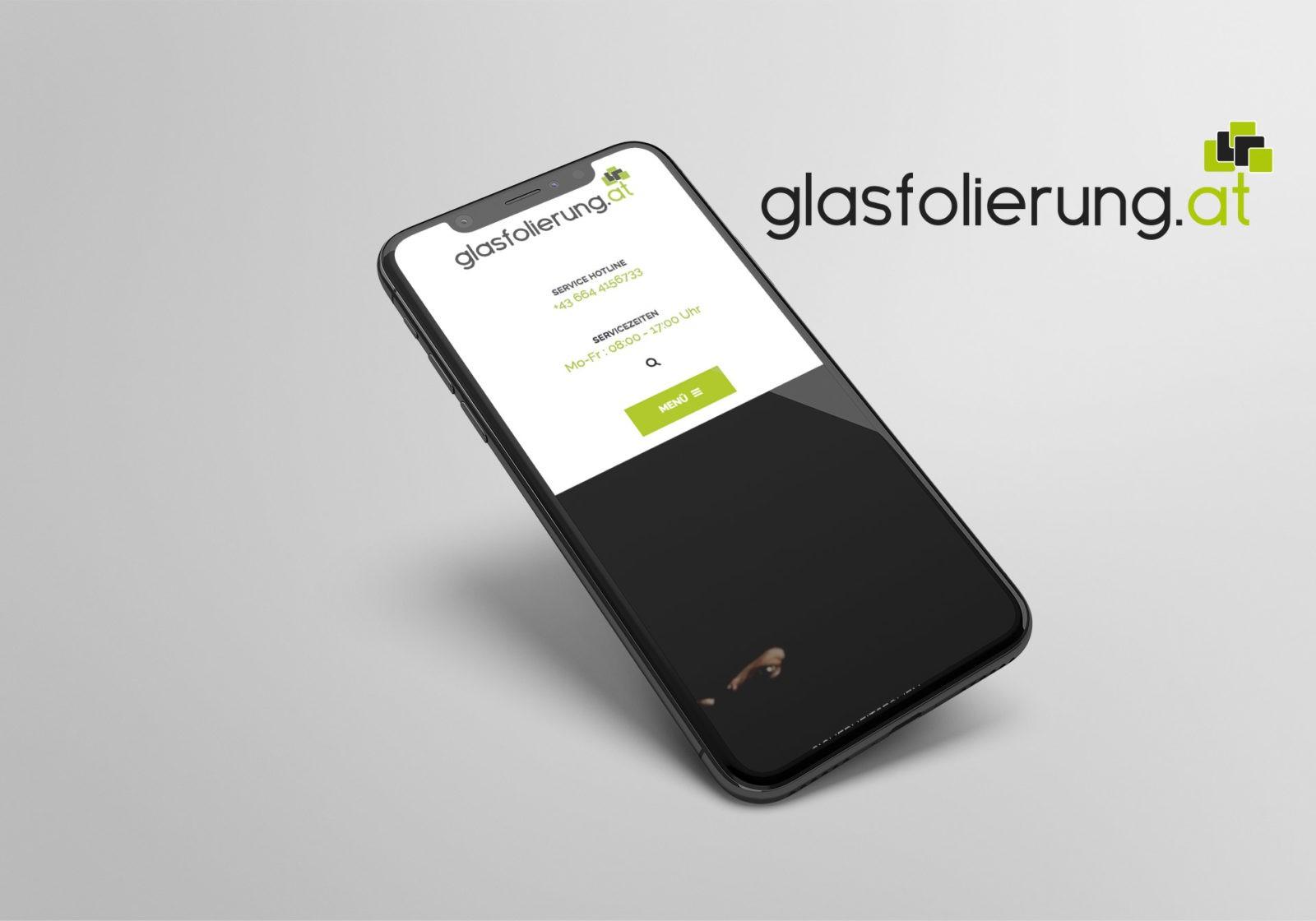 Referenz Glasfolierung Webseite