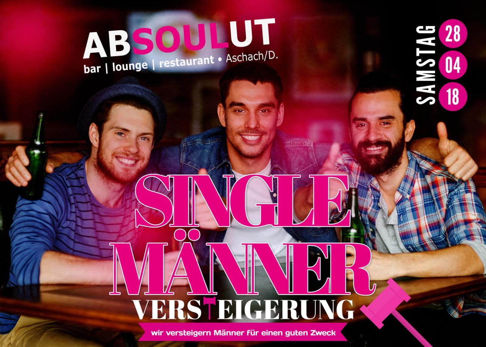 Absolut Bar Restaurant Events - Single Männer Versteigerung