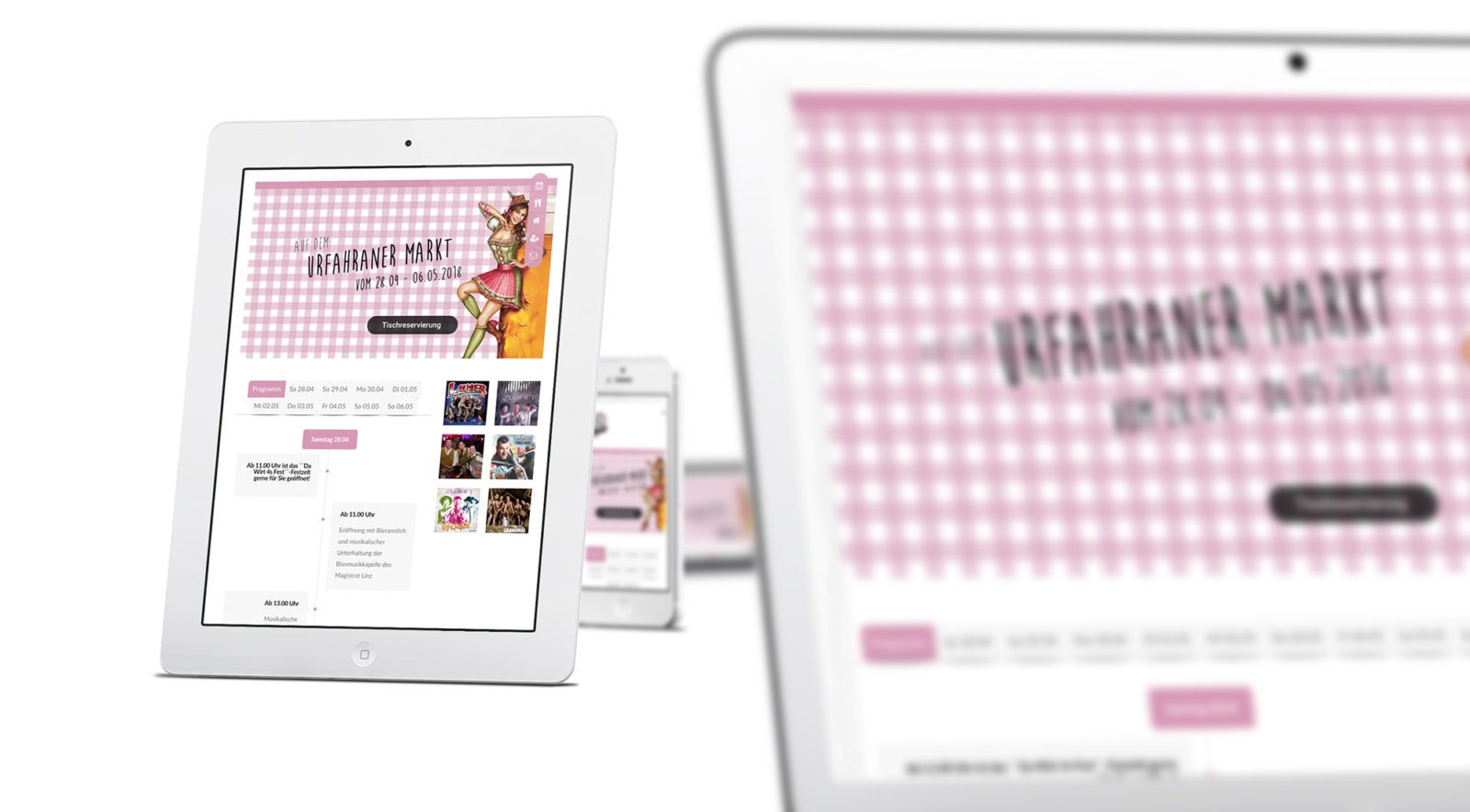 Mobile friendly Webdesign für Da Wirt 4sFest