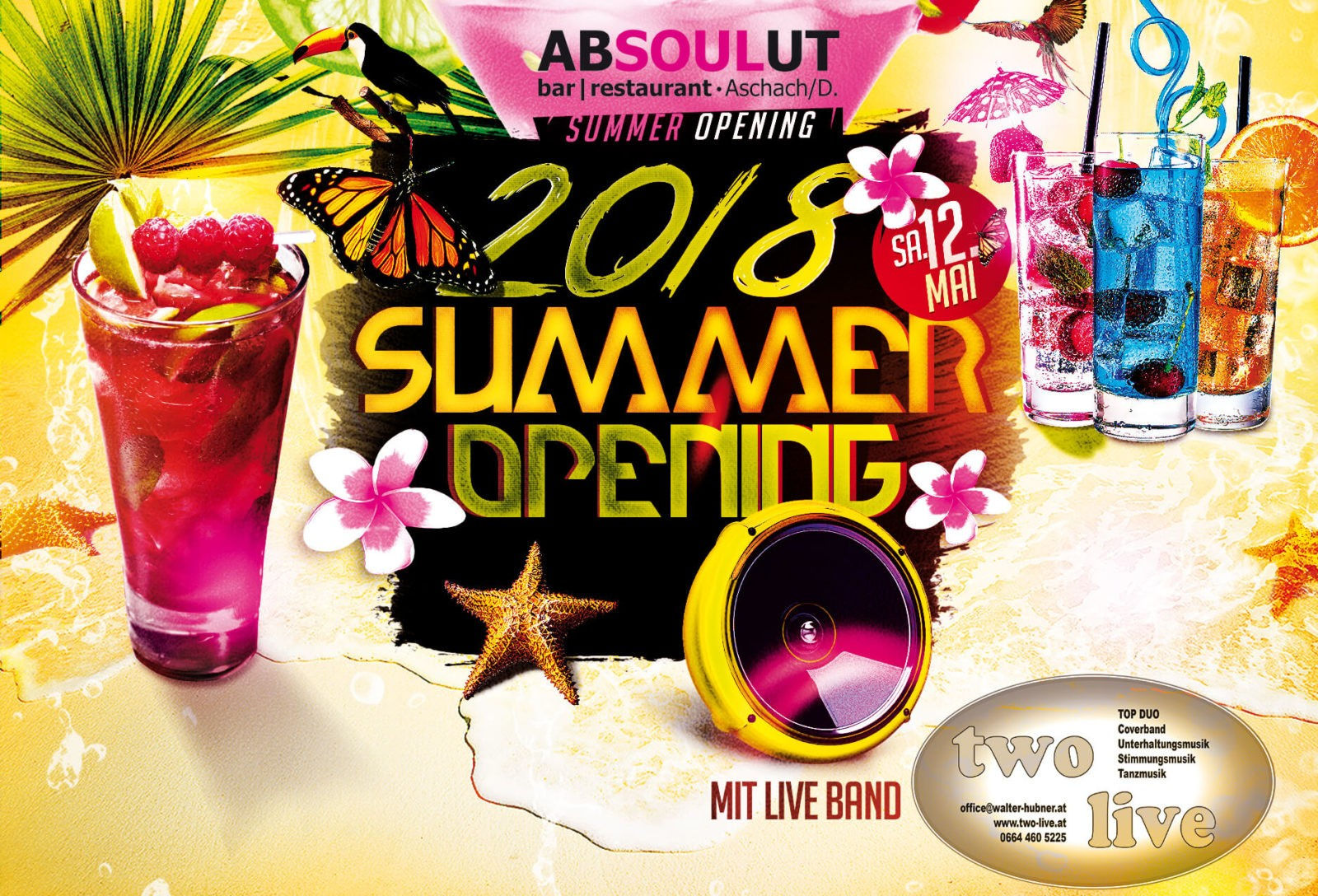 Absolut Bar Restaurant Events - Summer Opening
