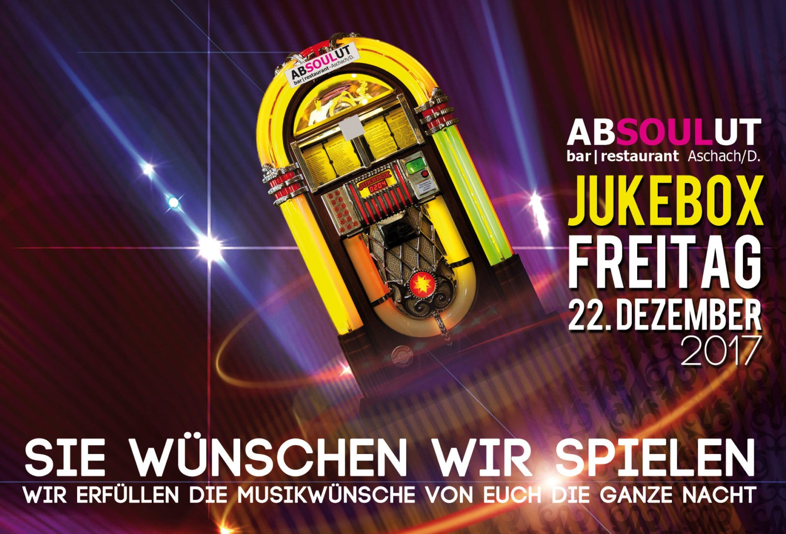 Absolut Bar Restaurant Events - Jukebox