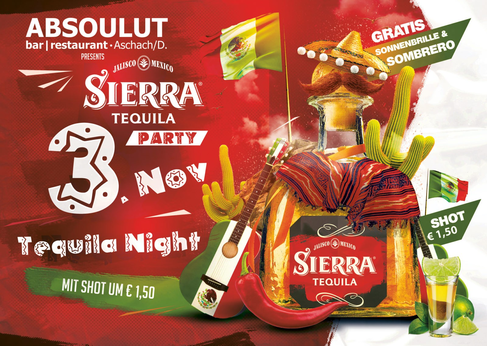 Absolut Bar Restaurant Events - Tequila