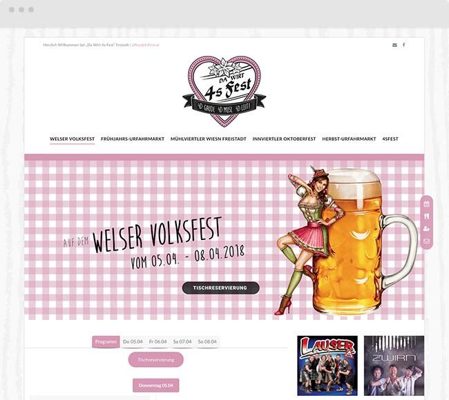 Webdesign für Da Wirt 4sFest