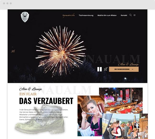 Donaualm Linz Webdesign - Neugestaltung
