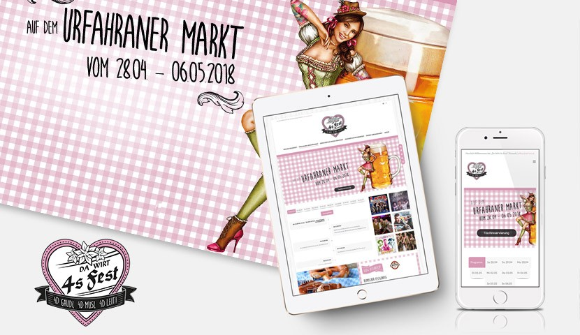 Webdesign für Da Wirt 4s Fest