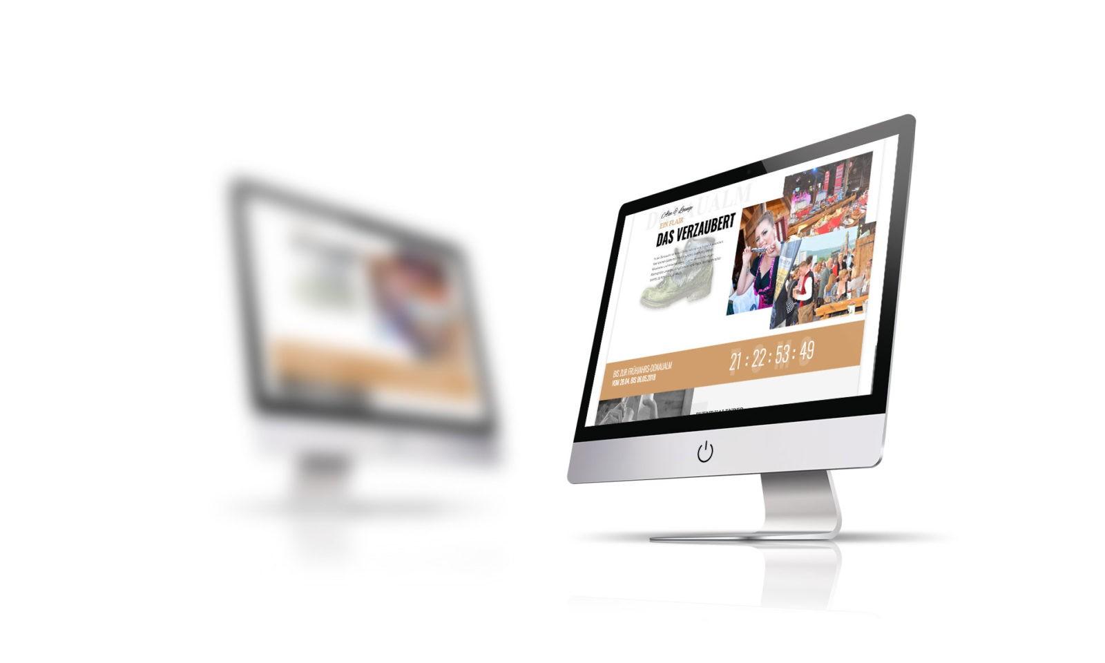 Donaualm Linz - responsive Webdesign - Neugestaltung