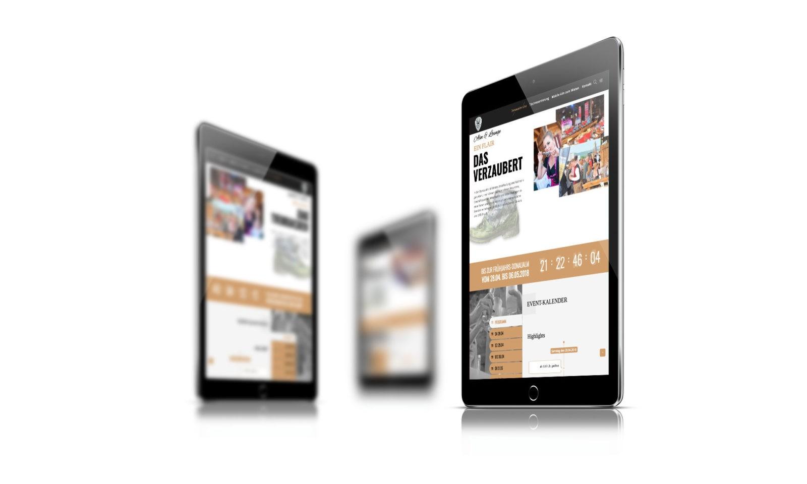 Donaualm Linz - responsive Webdesign - mobile friendly