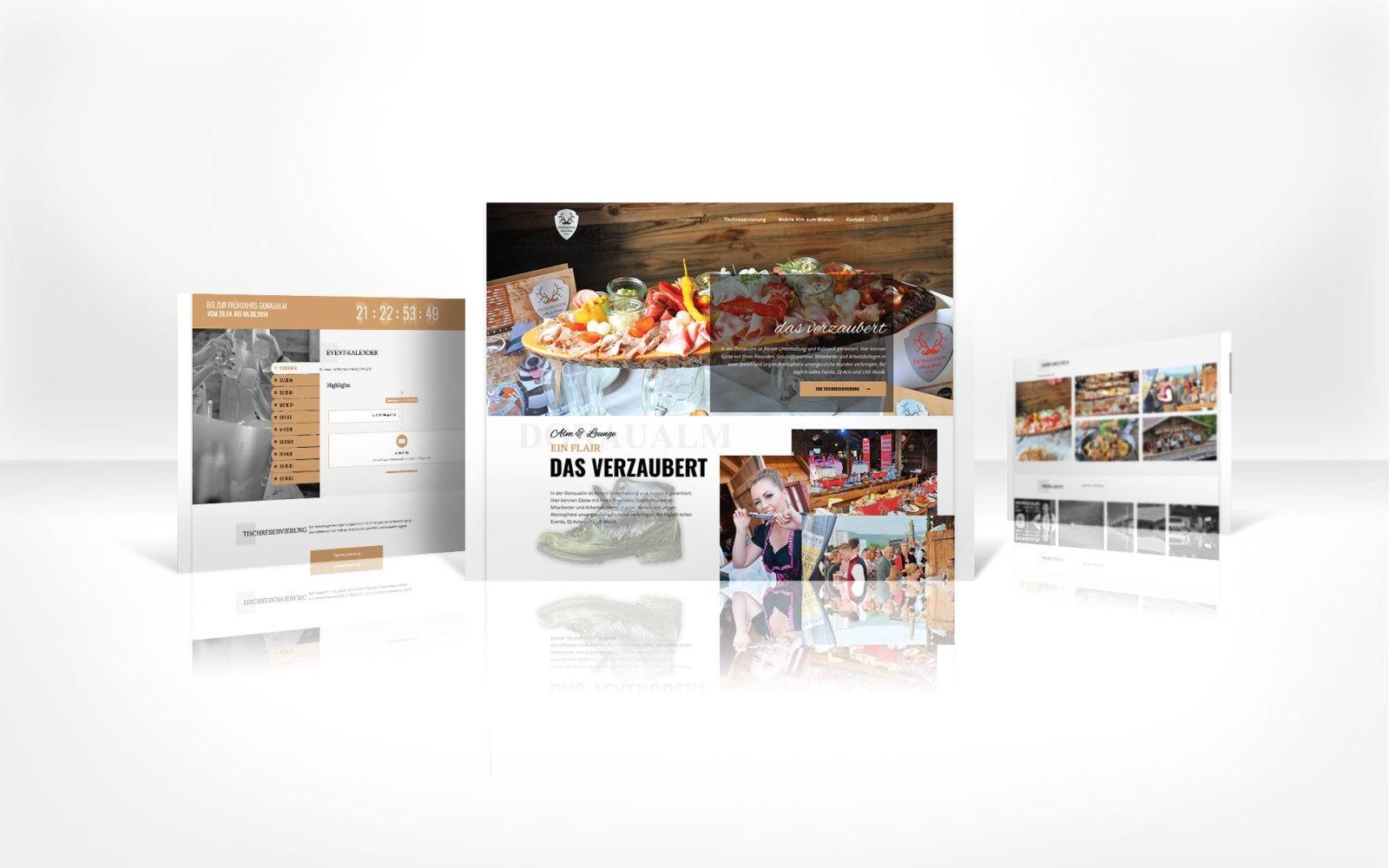 Donaualm Linz - responsive Webdesign - alle Geräte