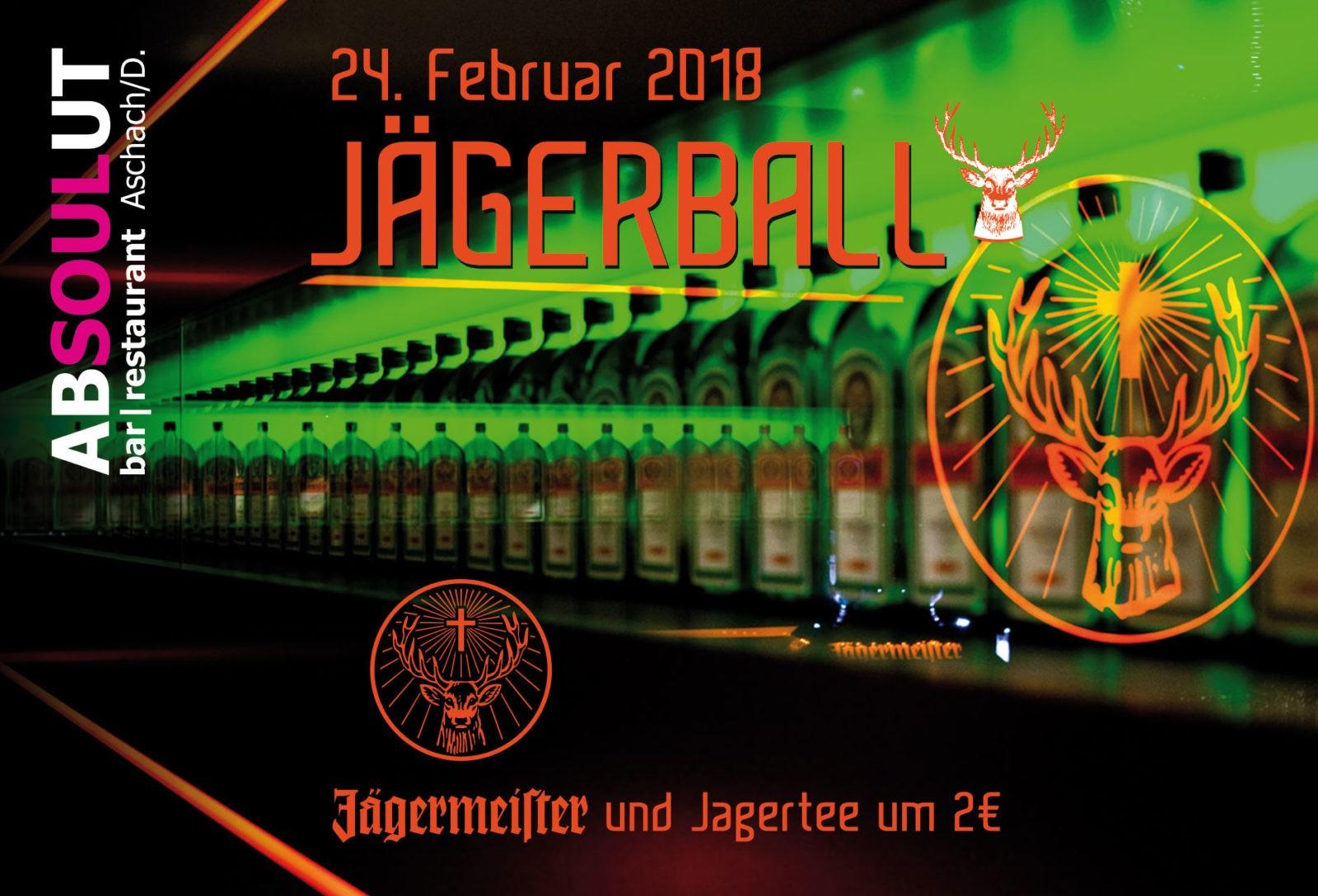 Absolut Bar Restaurant Events Jägerball