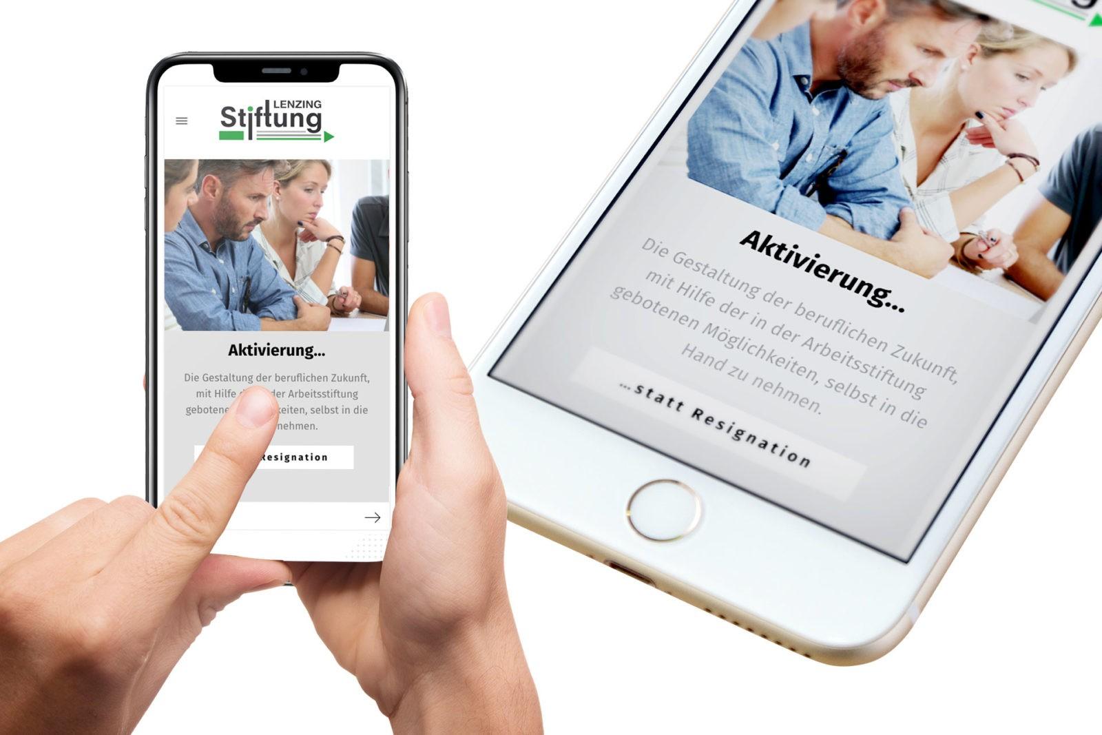 Webdesign für Kunde Lenzing-Stiftung - mobil optimiert