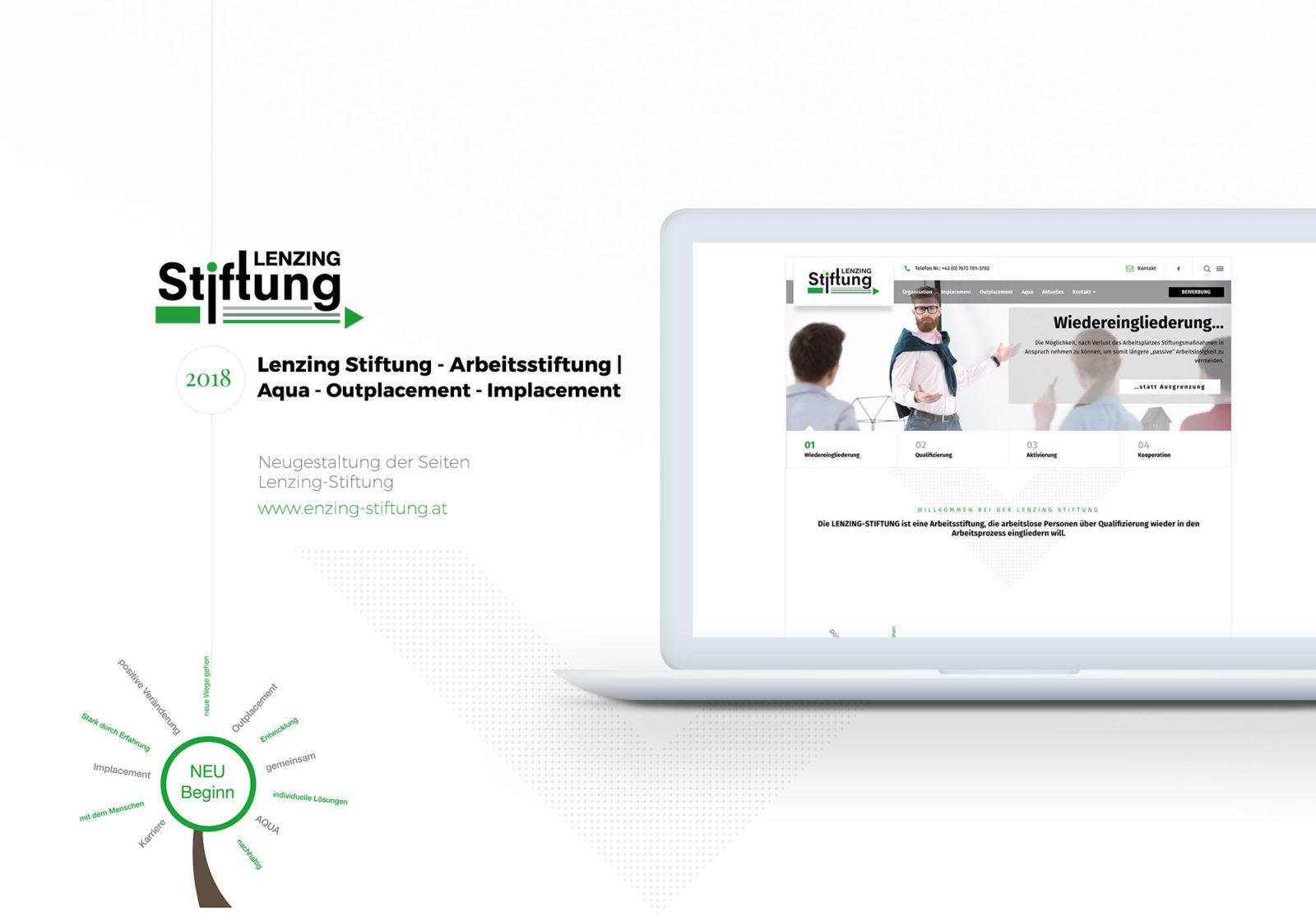 Webdesign für Kunde Lenzing-Stiftung - 2018