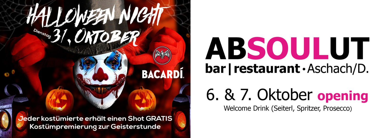Absolut Bar Restaurant Events - opening