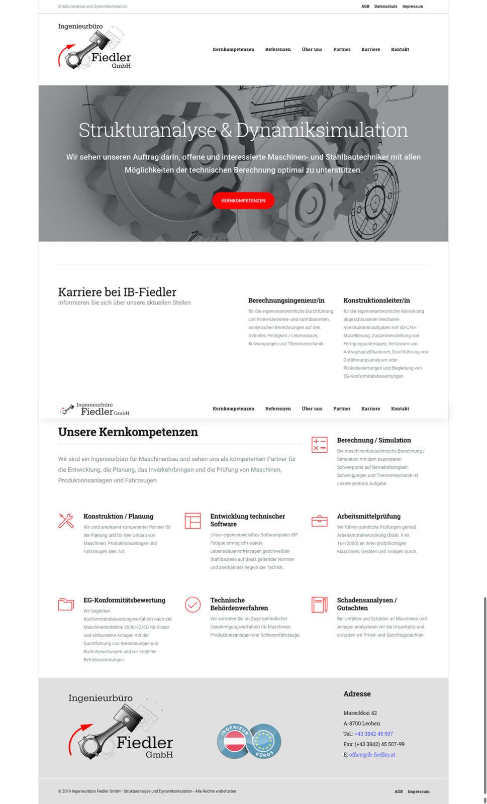 Webdesign für Ingenieurbüro Fiedler GmbH