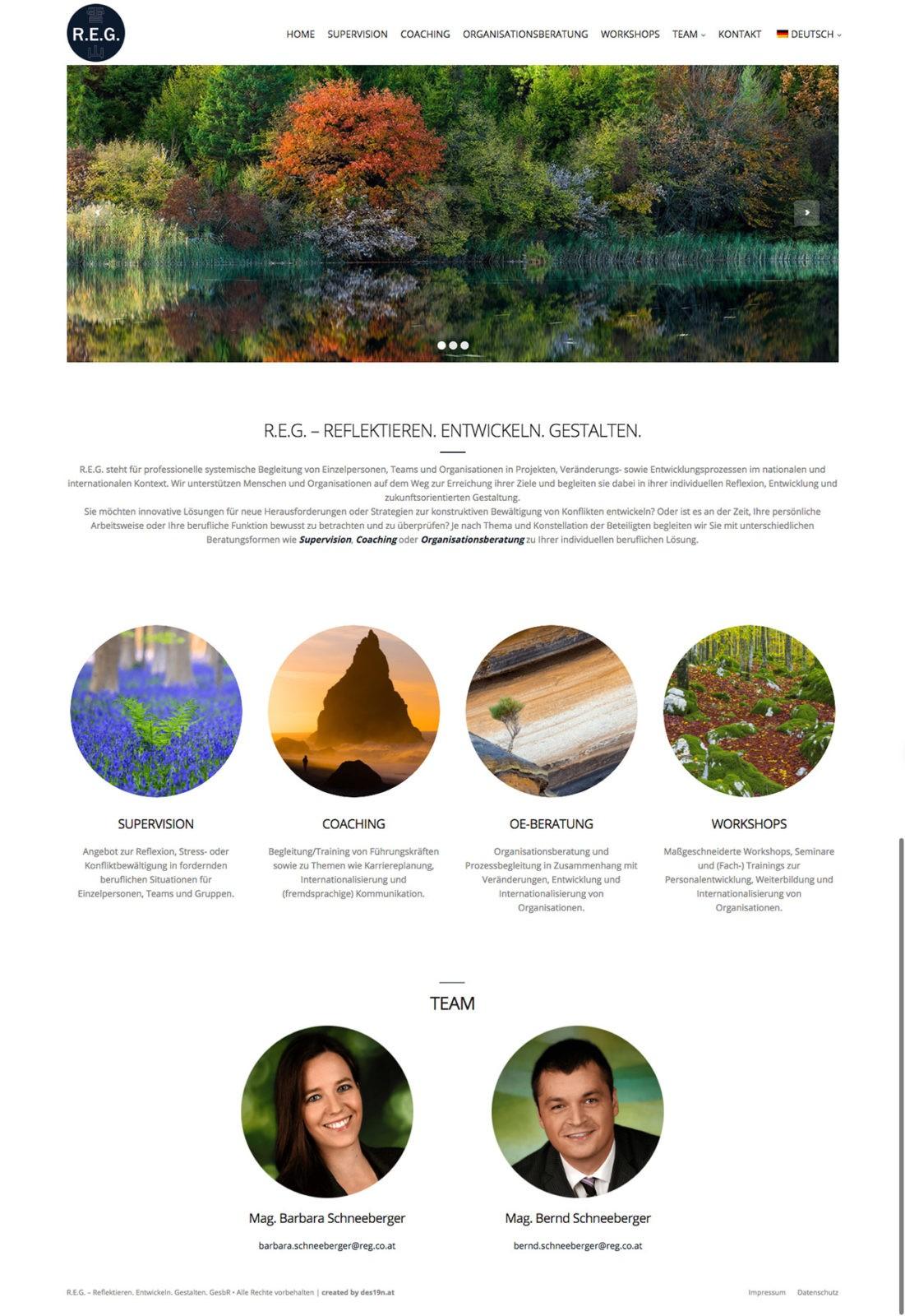 Kunde für Webdesign REG.CO.AT - Reflektieren.Entwickeln.Gestalten.
