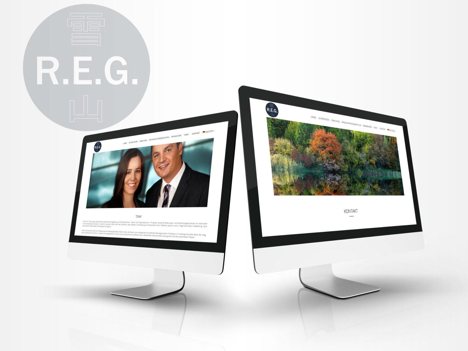 Neues Webdesign für REG.CO.AT - Reflektieren.Entwickeln.Gestalten.