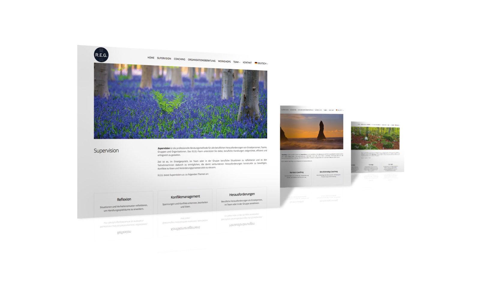 Webdesign REG.CO.AT - Reflektieren.Entwickeln.Gestalten.