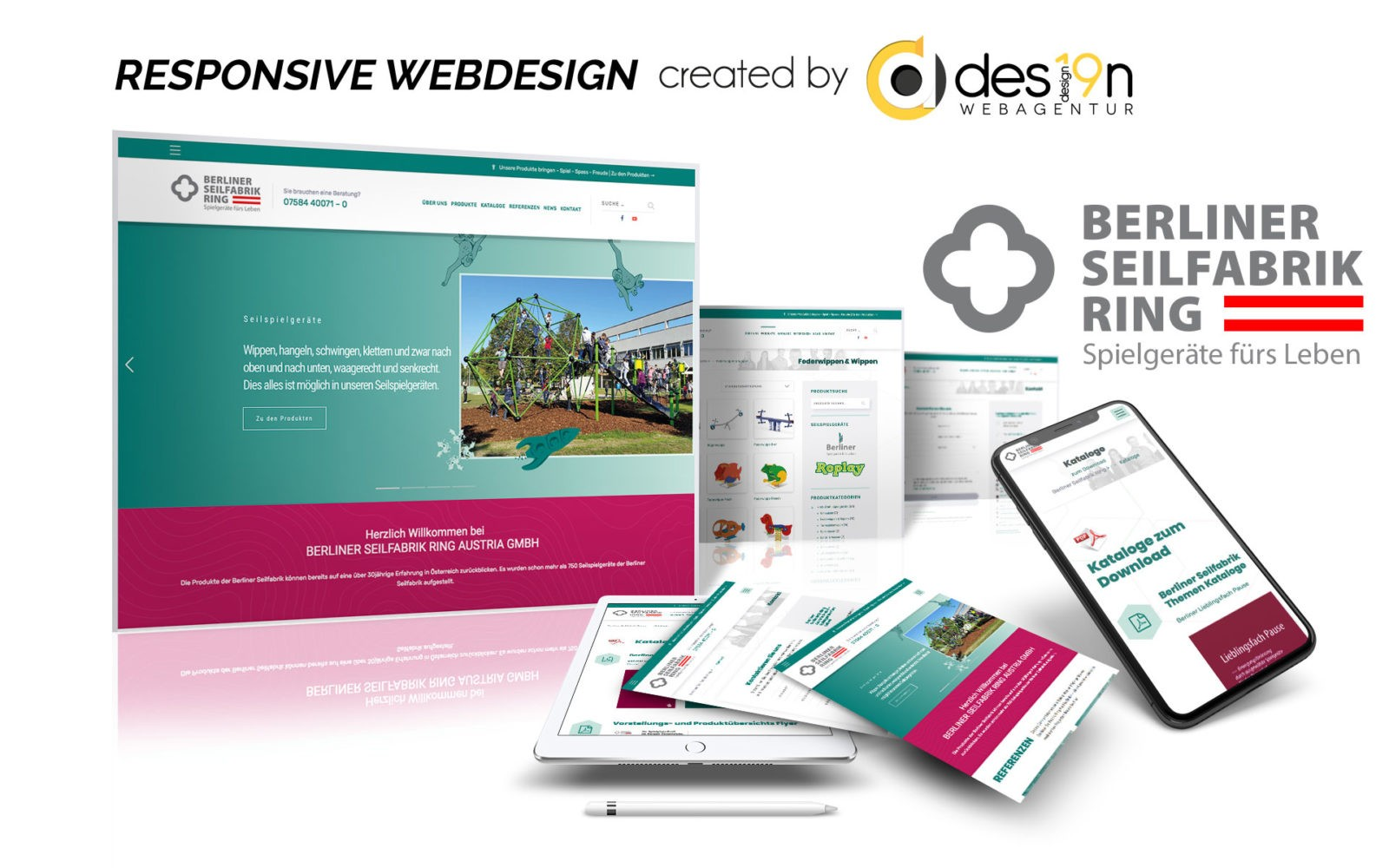 Responsive Webdesign Berliner Seilfabrik Ring Austria GmbH