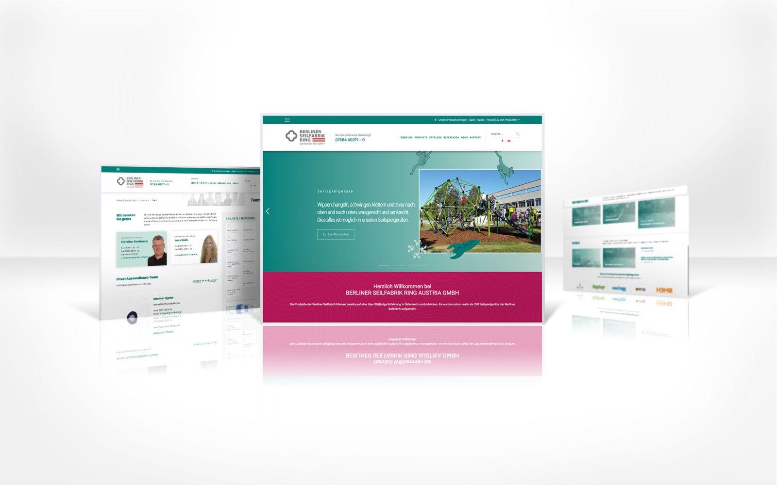Stylisch Webdesign für Berliner Seilfabrik Ring Austria GmbH