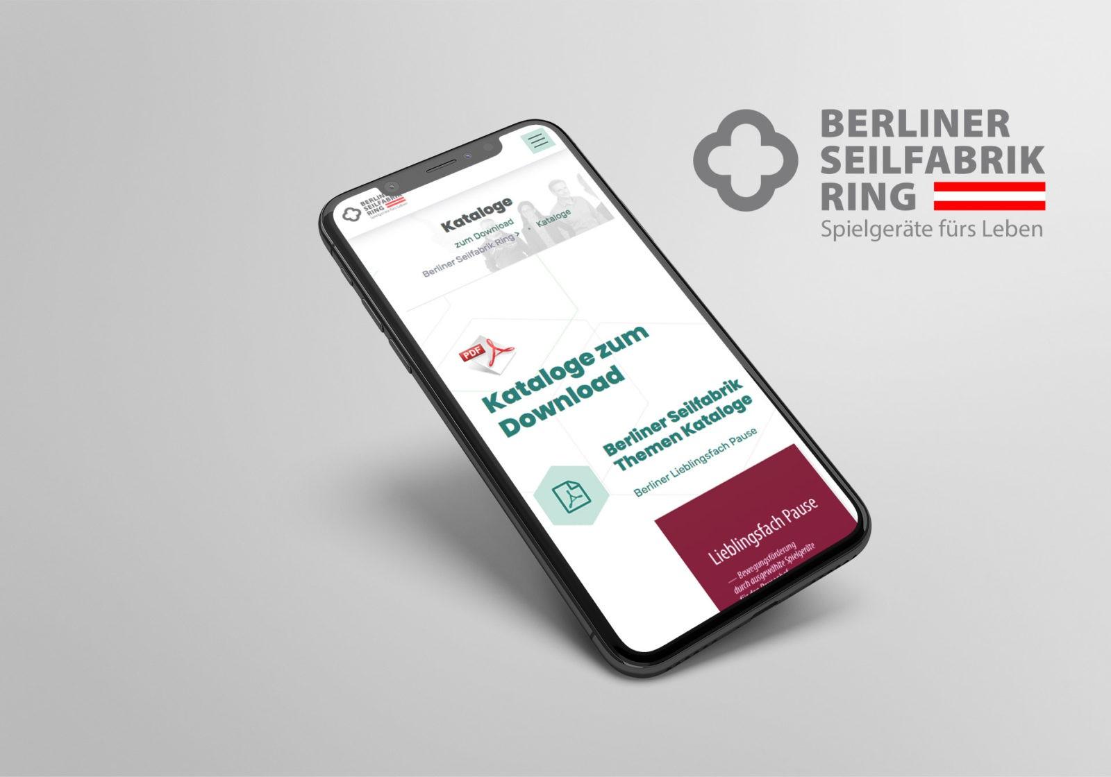 Optimiert für mobile Geräte für Berliner Seilfabrik Ring Austria GmbH